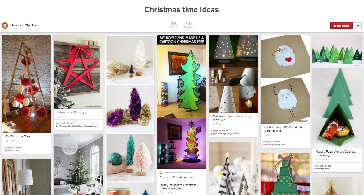 pinterest christmas board